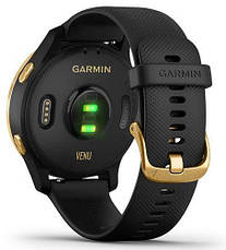Смарт-годинник Garmin Venu Gold Stainless Steel Bezel with Black Case and Silicone Band, фото 2