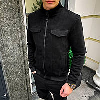 Мужской бомбер Uspih Pobedov (черный)