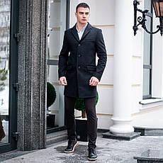 Мужское черное пальто демисезонное Batya 2 Pobedov трейч-кашемир (черное), фото 3
