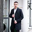 Чоловіче чорне пальто демісезонне Batya 2 Pobedov трейч-кашемір (чорне), фото 4