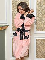 Махровий халат жіночий короткий