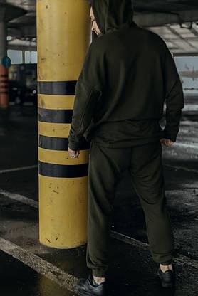 Худі Чоловіче Intruder 'Bars' хакі спортивна кофта трикотаж + Подарунок, фото 3
