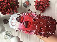 """Большая расписная романтическая свеча """"Любящие сердца"""", фото 1"""