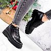 Ботинки женские Irma черные кожа 2626, фото 4