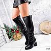 Сапоги женские ботфорты Silis черные 2754 ЗИМА, фото 7