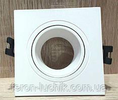 Точечный Встраиваемый светильник Feron DL0380 Белый поворотный квадратный