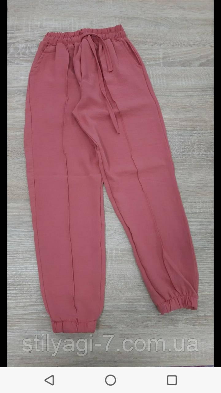 Спортивные штаны для девочки на 9-12 лет зеленого, бежевого, сирень, персик, розового цвета оптом