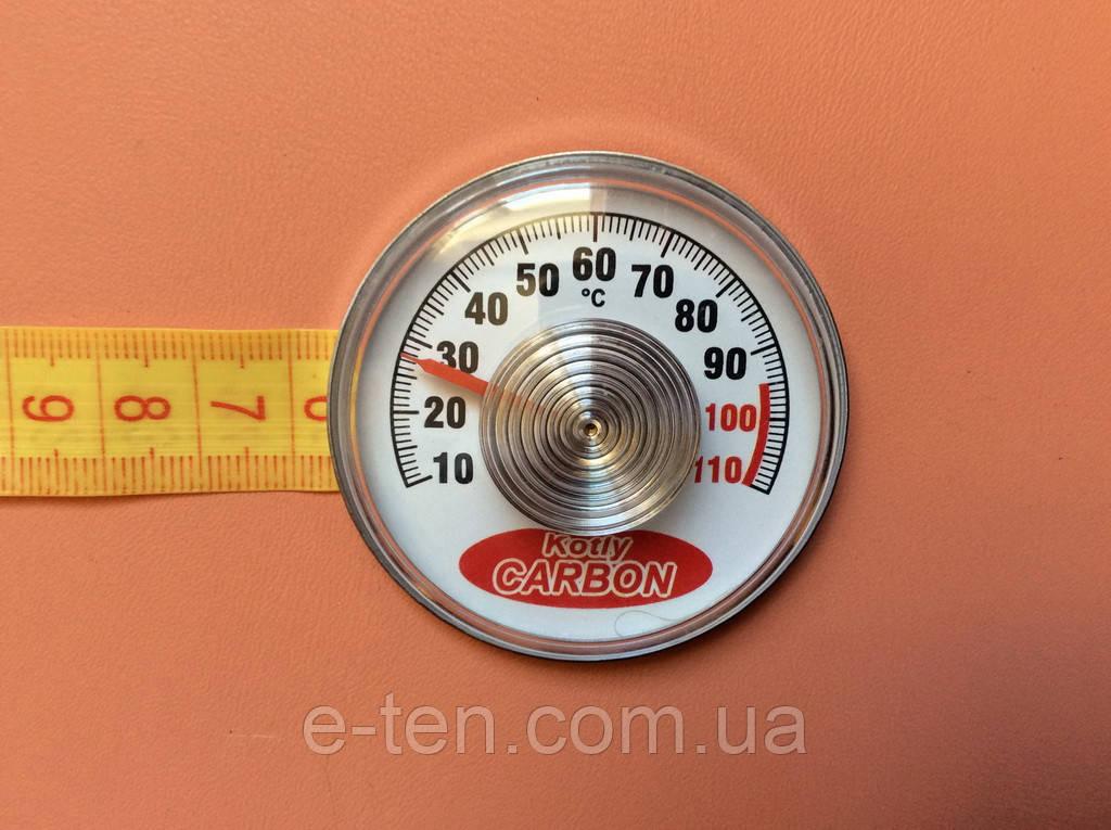 Термометр на самоклейці Kotly CARBON - Ø55мм / Тмах = 110°З Україна