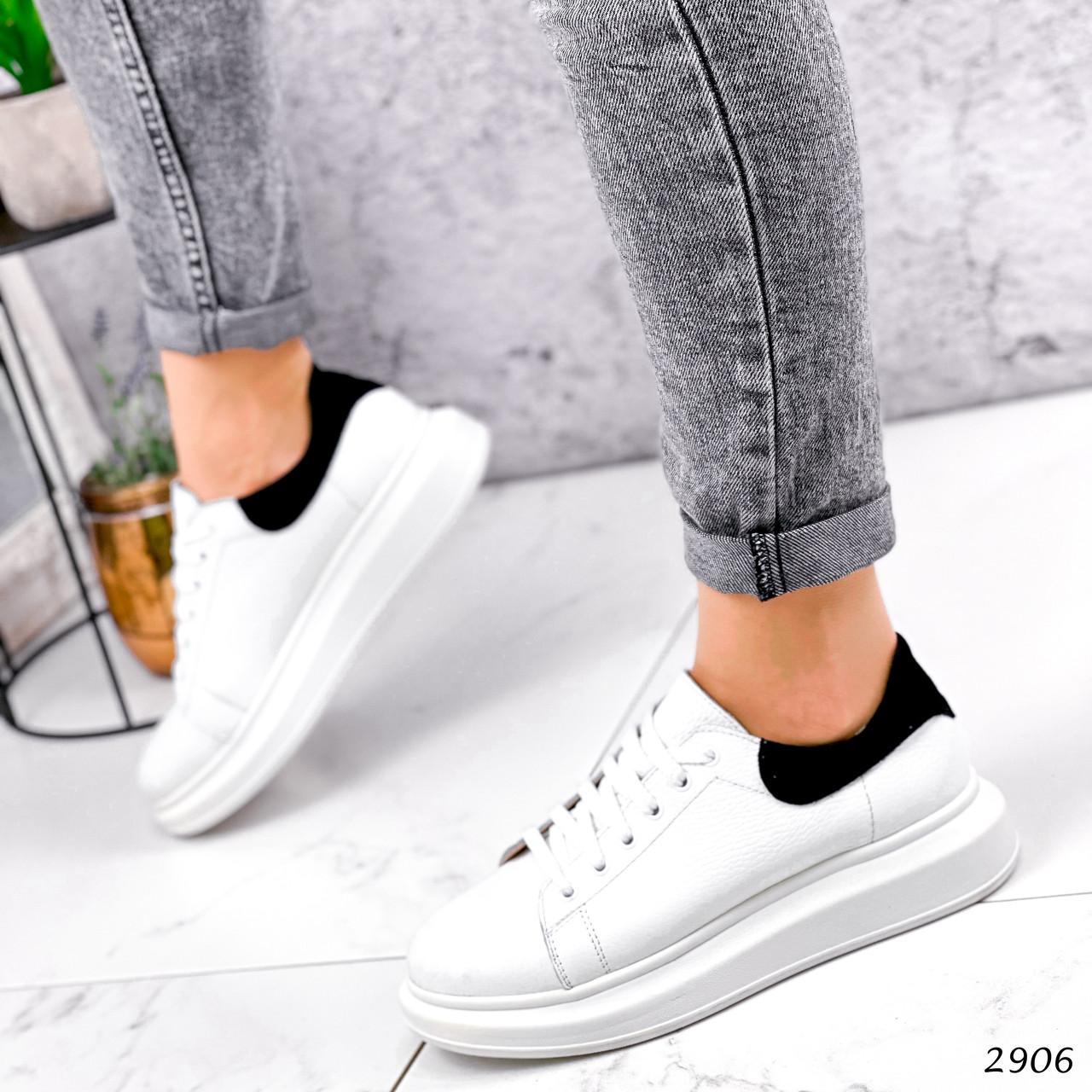 Кроссовки женские QQ белый + черный 2906