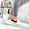 Кроссовки женские QQ белый + черный 2906, фото 4
