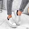 Кроссовки женские QQ белый + черный 2906, фото 8
