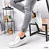 Кроссовки женские QQ белый + черный 2906, фото 9