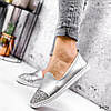 Туфли балетки женские Lorri серебро 2976, фото 6