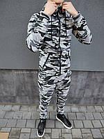 Чоловічий спортивний костюм Камуфляж сірий