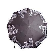 Зонт женский черный автомат антиветер 008ZN