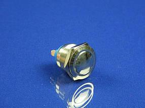 Кнопка металлическая антивандальная с подсвткой D=19 мм. (для лифта, домофона и т.п)