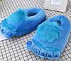 Плюшевые домашние тапочки Кигуруми Йети Голубые ( универсальный  размер 36-42)