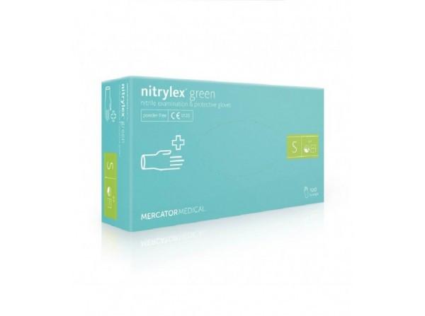 Нестерильные перчатки нитриловые MercatorMedical Nitrylex GREEN S 100 шт