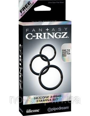 Ерекційне кільце - Fantasy C-Ringz Silicone 3-Ring Stamina Set