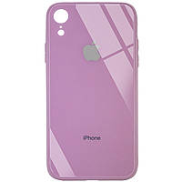 "TPU+Glass чехол GLOSSY Logo Full camera (opp) для Apple iPhone XR (6.1"") Лиловый / Lilac Pride"