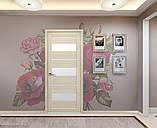 Межкомнатные двери Новый стиль ПВХ Ультра Лилу со стеклом сатин, цвет дуб дымчатый, фото 3