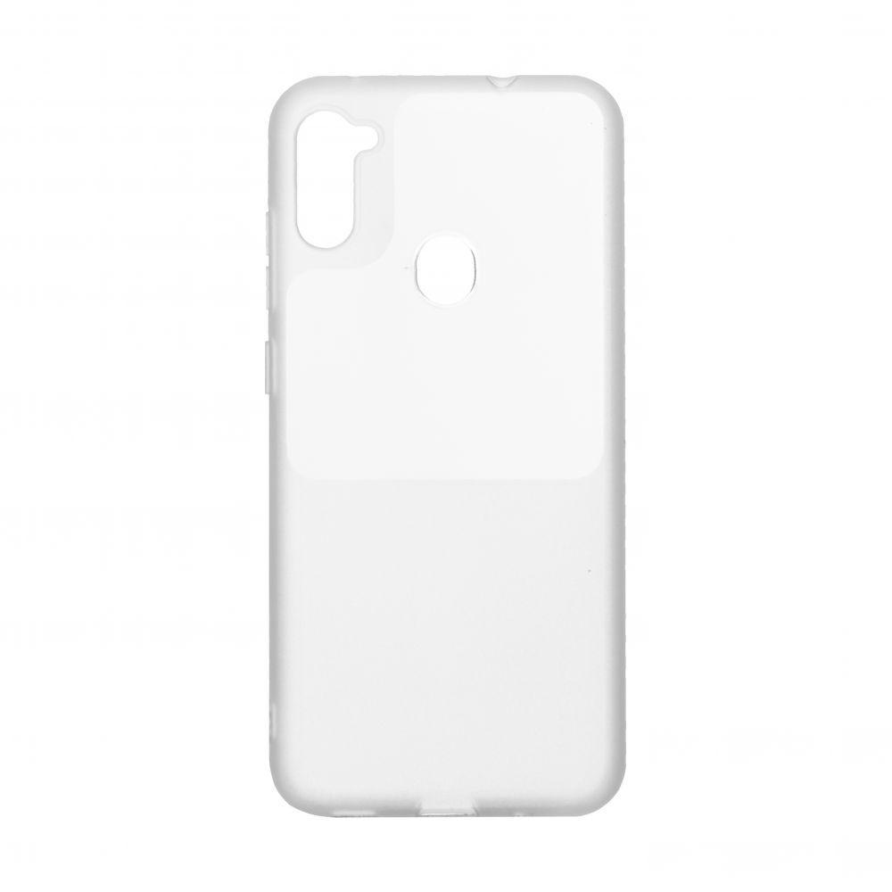 Чехол Bright Silicone for Samsung A11 / M11 Цвет Белый