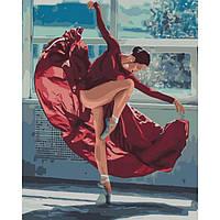 """Go Яркая картина раскраска по номерам Люди """"Танец огня"""" KHO4512, 40х50 см живопись рисование в цифрах на"""