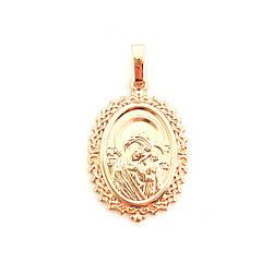 """Иконка Xuping """"Казанская Божия Матерь"""" из медицинского золота, позолота PO, 42479 (1)"""