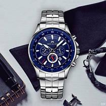 Мужские часы Megalith 0073M Silver-Blue, фото 3