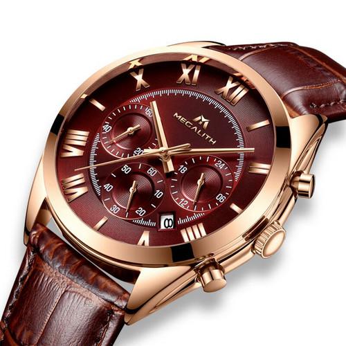 Мужские часы Megalith 0092M Brown-Cuprum-Brown