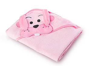 Детское махровое полотенце с уголком Sensillo Water Friends Pink