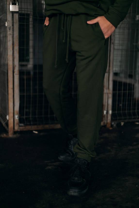Штани Спортивні чоловічі Cosmo Intruder хакі трикотажні, фото 2