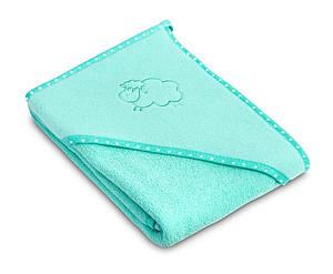 Детское махровое полотенце с уголком Sensillo Sheep Aqua