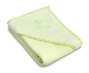 Детское махровое полотенце с уголком Sensillo Sheep Green