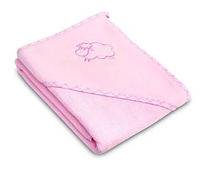 Детское махровое полотенце с уголком Sensillo Sheep Pink