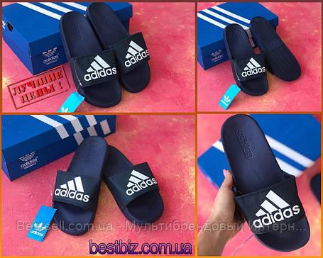 Шльопанці чоловічі сині Adidas / шльопанці / шльопанці адідас сині, фото 2