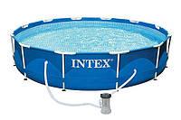 Intex 28212, каркасный бассейн 366 x 76 см Metal Frame Pool