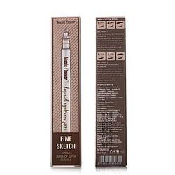 Олівець для брів Music Flower 02 Dark brown (коричневий темний) M-276962