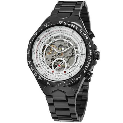 Мужские часы Winner 8067 Black-White Red Cristal, фото 2