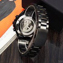 Мужские часы Winner 8067 Black-White Red Cristal, фото 3