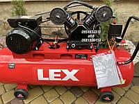 Компрессор воздушный ременной LEX LXC-100-2 3000 Вт 660 л/мин, фото 1