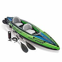 Intex 68306, надувная лодка-байдарка Challenger K2 Kayak, двухместная