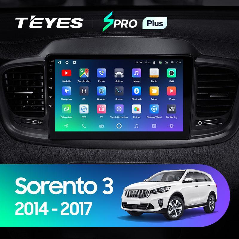 Штатная магнитола Teyes Kia Sorento 2014-2017 Android