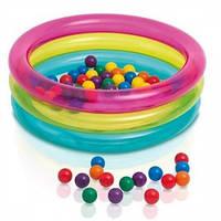 Intex 48674, надувной детский бассейн 86x25см, в комплекте 50 шариков, фото 1