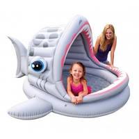 Intex 57120, надувной детский бассейн Акула, фото 1