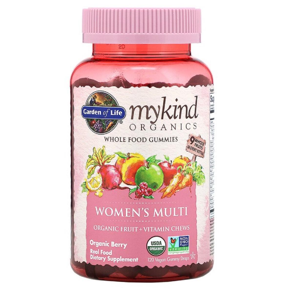 Органические Мультивитамины для Женщин, органические ягоды, MyKind Organics, Garden of Life, 120
