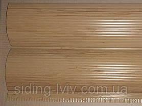 Металлический блок хаус Ольха светлая дерево двусторонний 0,23 см ширина
