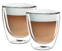 Набор стаканов Cappuccino (Капучино) (2 ШТ) 300 ML (мл) Filter Logic CFL-660B с двойным дном