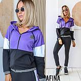 Жіночий спортивний костюм двійка батник і штани розмір: 48-50, 52-54, фото 3