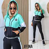Жіночий спортивний костюм двійка батник і штани розмір: 48-50, 52-54, фото 2